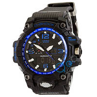 Часы Casio G-Shock GWG-1000 Black-Blue Gray Buttons New