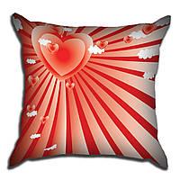 Декоративная подушка Сердца свет 40х40см