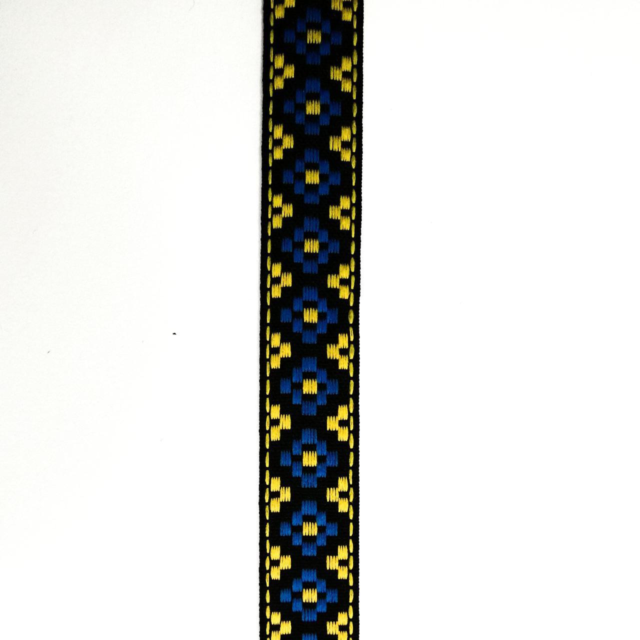Лента отделочная с украинским орнаментом 17 мм (25м/рулон)