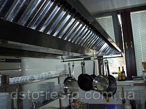 Зонт вытяжной для кафе пристенный 1200/800/400 мм, фото 2