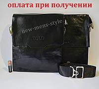 Мужская кожаная сумка барсетка через плечо бренд TOLO Polo Поло купить