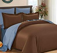 Двуспальное постельное белье, Сатин однотонный, микс №154+№ 4032