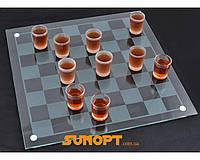 Алко игра шашки (28х28см, СТЕКЛО) №085s