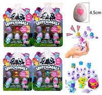 """Питомцы в яйце """"Hatchiмals"""" 4шт в наборе, на листе, 4 вида (120шт)"""