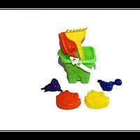 """Ведро """"Крепость """" среднее+ набор (лопата,грабли)20, Л-028-2, детское ведерко, паски"""