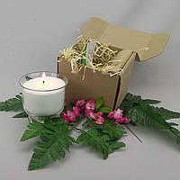 Подарочный набор белая насыпная свеча 9 см