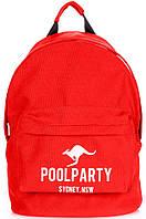 Яркий городской рюкзак 17 л. Poolparty Backpack-kangaroo-red