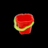 Ведро Колокольчик арт. 1029 красное, детское ведерко
