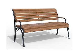 """Уличная скамья """"Соната""""  из натуральной древесины"""