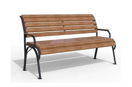 """Уличная скамья """"Соната""""  из натуральной древесины, фото 2"""