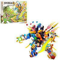 Конструктор Ninja робот, транспорт, фигурки, 458 деталей в коробке