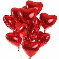 Гелиевые шары красное сердечко