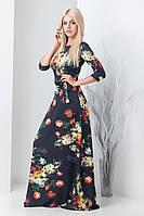 Женское длинное платье в пол Агнес принт