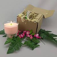 Подарочный набор персиковая насыпная свеча 9 см