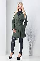 Женское кашемировое пальто Холли хаки (42-46)