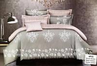 Хлопковый комплект постельного белья с урасивим узором