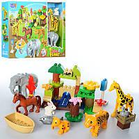 Конструктор с фигурками животных Zoo Funny 6601: 51 деталь, звук