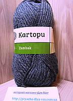 Акриловая пряжа (100%- акрил, 100 г/133 м) Kartopu Zambak K1003(серый меланж)