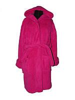 Махровый женский халат для дома
