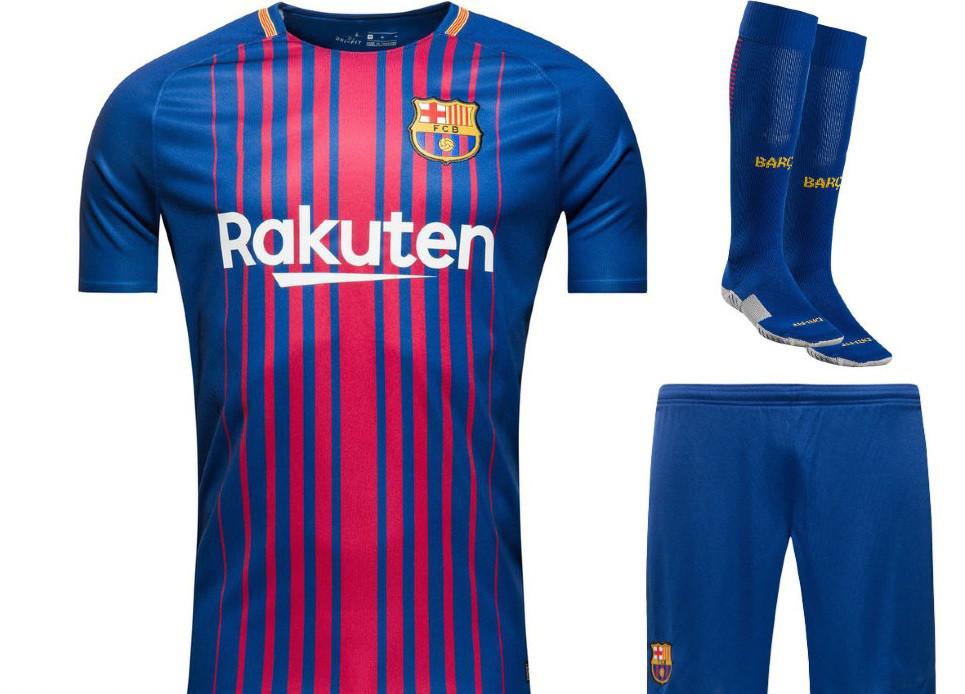 ee68c32ffb44 Полный комплект Барселоны  футбольная форма + гетры + печать номера имени - Sport  Active