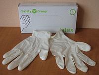 Перчатки белго цвета из латекса опудренные, Размер: L, PRC /30-0