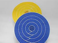 Круг полировальный муслиновый  d150 мм, 60 слоев, синий