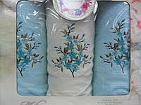 Набор полотенец Gursan Cotton бирюз 2х50*90 см + 70*140 см