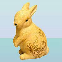 Декоративная скульптура для дома копилка фигурка Кролик ажурный