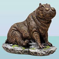 Декоративная скульптура для дома копилка фигурка Бегемотик