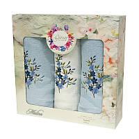Набор полотенец Gursan Cotton голуб 2х50*90 см + 70*140 см