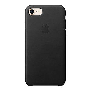 Чехол Apple iPhone 8/7 Leather Black (MQH92ZM/A)