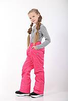 Зимний полукомбинезон для девочки, малиновый, ТМ Kat