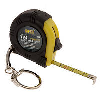 Рулетка-брелок с прорезиненным корпусом 1м FIT DIY