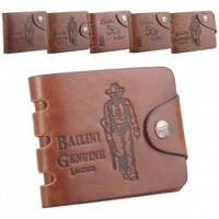 Модный  мужской кошелек bailini из натуральной кожи  для настоящих ковбоев (6 видов)