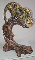Статуэтка Леопард (бронза\цвет)