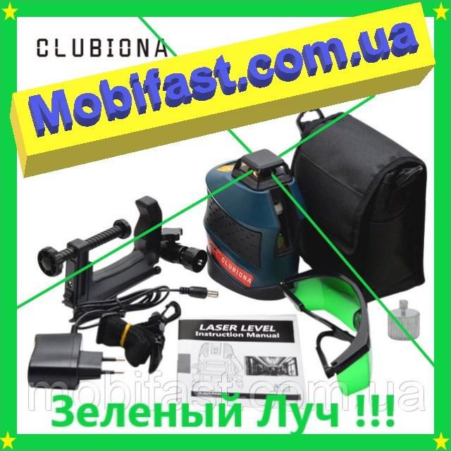 Лазерный уровень Clubiona 4H1V Зеленый луч !