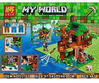 Конструктор Майнкрафт Minecraft Дом у реки 33125: 443 деталей, 3 фигурки