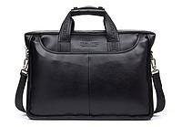 Портфель сумка Мужская фирменная BOSTANTEN Черный