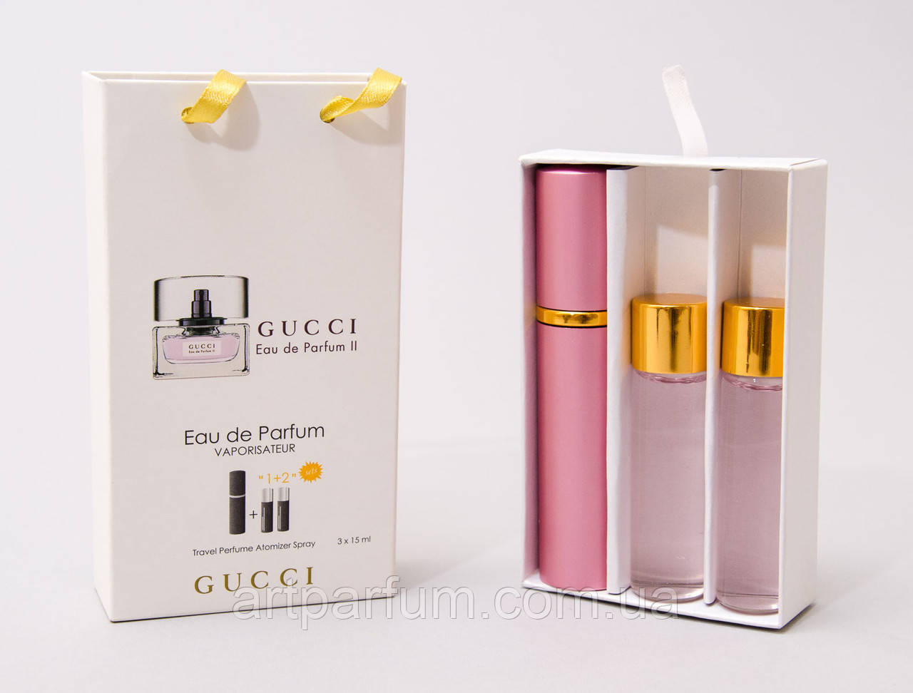 Парфюмированный мини набор для женщин Gucci Eau De Parfum II 3*15 ml