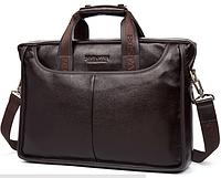 Портфель сумка Мужская фирменная BOSTANTEN Темно-коричневый