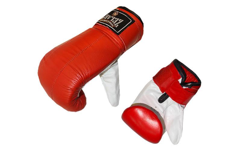 Снарядные перчатки (блинчики) кожа ZELART - ADX.IN.UA в Одессе