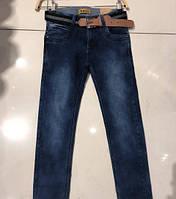 Джинсы с ремнем стильные для мальчика размер 134-164