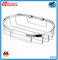 Мыльница овальная Besser 8501 13*8.5*3см из нержавеющей стали