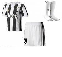 Полный комплект Ювентуса: футбольная форма + гетры + печать номера/имени