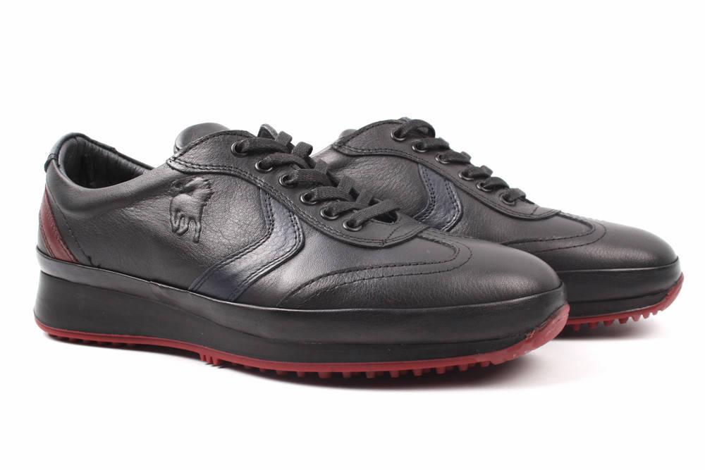 Туфли мужские Effort натуральная кожа, цвет черный (мокасины, комфорт, платформа, весна\осень, Турция)
