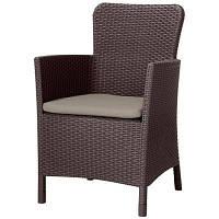 Кресло садовое Allibert Miami DC коричневое (17200037599)