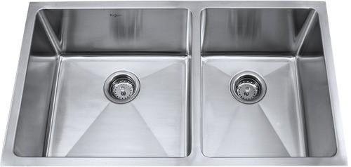 Мойка кухонная (нержавейка) KHU103-33 Kitchen Sink, Kraus (USA)