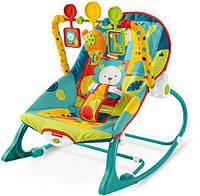 Кресло-качалка 3в1 с вибрацией, Фишер Прайс, Fisher-Price Infant to Toddler Rocker, Safari, Оригинал из США