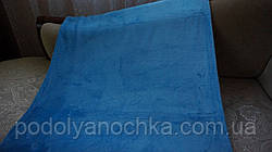 Однотонний флісовий плед голубий (230х200)