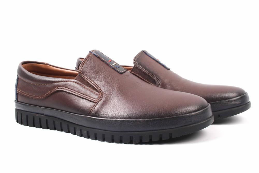 Туфли мужские Libra натуральная кожа, цвет коричневый (мокасины, комфорт, платформа, весна\осень, Турция)